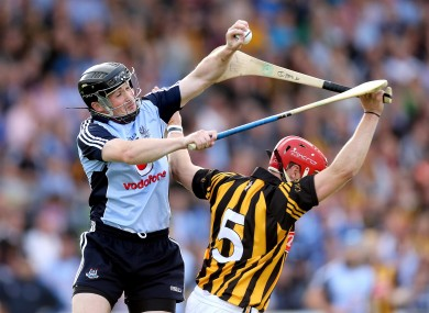 Dublin's David O'Callaghan and Kilkenny's Tommy Walsh.