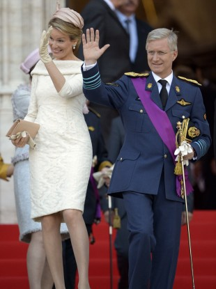 Belgium's Prince Philippe and his wife Princess Mathilde.