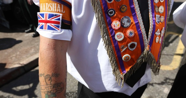 In pics: Orange Order parade stopped from entering Ardoyne