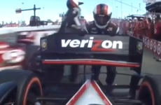 Careful now: IndyCar driver takes out 3 members of competitor's pit crew