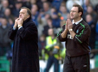 O'Neill and his Rangers counterpart Dick Advocaat back in 2001.
