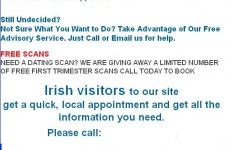 London women's centre advert that appeals to 'Irish visitors' is misleading
