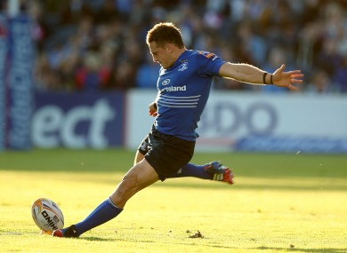 Jimmy Gopperth started at outhalf for Leinster against Ospreys.