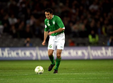 Joey O'Brien in action for Ireland way back in 2007.
