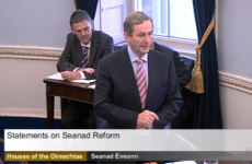Enda Kenny tells the Seanad: 'I come in peace, not in war'