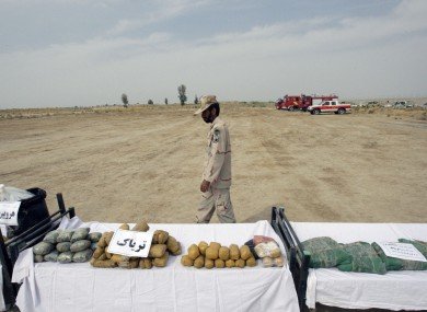 Drugs seized at border of Iran and Afghanistan in 2012