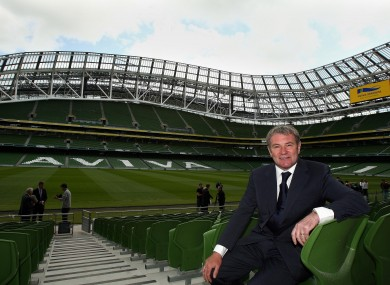 Job done: Houghton and Ruud Dokter were tasked with recommending a name to the FAI Board.
