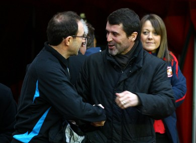 Keane and O'Neill meeting as opposing managers in 2007.