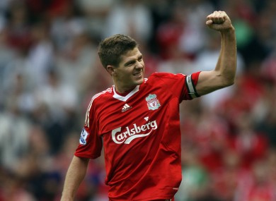 Steven Gerrard: one-team man.