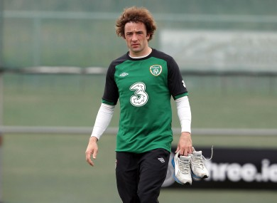 Hunt during Ireland training (file photo).