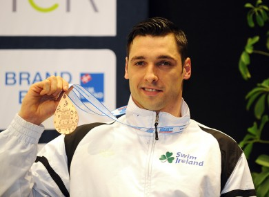 Ireland's Barry Murphy celebrates his win.
