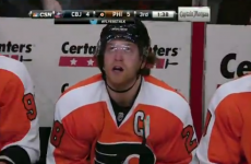 Philadelphia Flyers' star scores ice hockey goal of the season contender