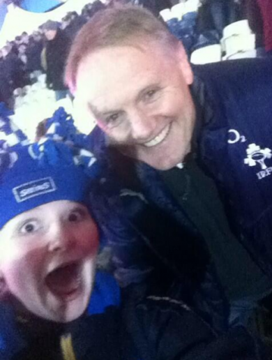 A young Leinster fan got this great selfie with Joe Schmidt last night