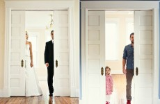 Man recreates photos of late wife with their daughter in her place