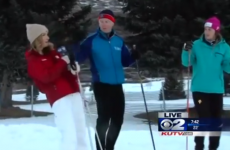 Watch local news reporter pass out then amazingly continue her