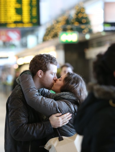 See you soon: Post-Christmas farewells at Dublin airport