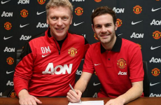 Juan Mata officially becomes a Manchester United player