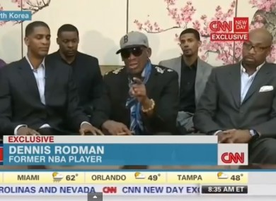Rodman on CNN today.