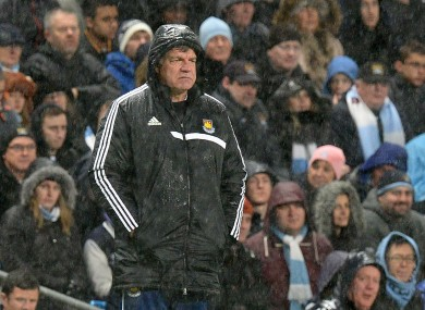 Allardyce watches on in dismay last night.