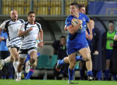 Noel Reid scores Leinster's second try.