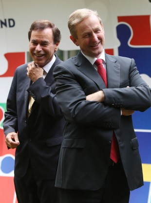 Alan Shatter and Enda Kenny in happier times (File photo)