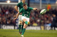 Ronan O'Gara was the 35th-best place kicker in world rugby, says study