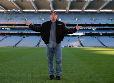 Garth Brooks at Croke Park.