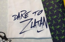 Zlatan sent Cristiano Ronaldo a 'Dare to Zlatan' t-shirt for his birthday