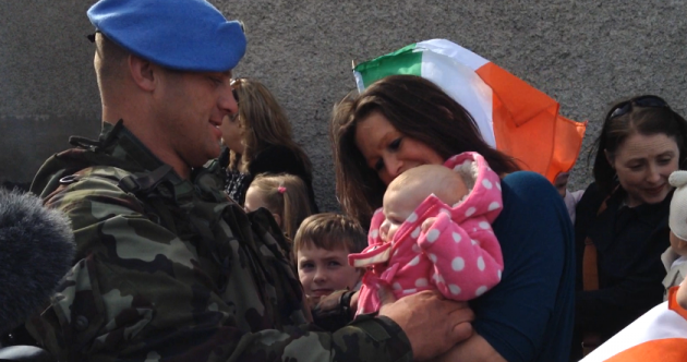 Watch: Irish troops return home from their six-month tour of duty in Syria