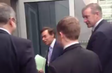 VIDEO: Alan Shatter wasn't taking any questions this morning