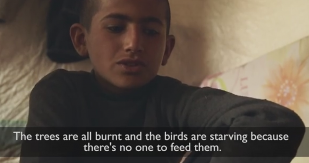"""A bomb came and frightened us"": Syrian children reveal fears of violence, kidnapping and child marriage"