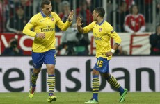 Lukas Podolski goal levels it up for Gunners on the night in Munich