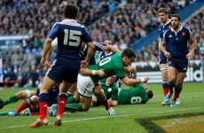 The Sexton and Trimble tries that have given Ireland hope in France