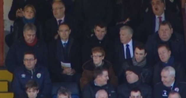 Snapshot: Roy Keane and John Giles sat next to each other at Inchicore last weekend