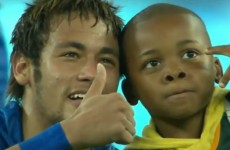 Neymar rescues young South African pitch-invader in heart-warming moment