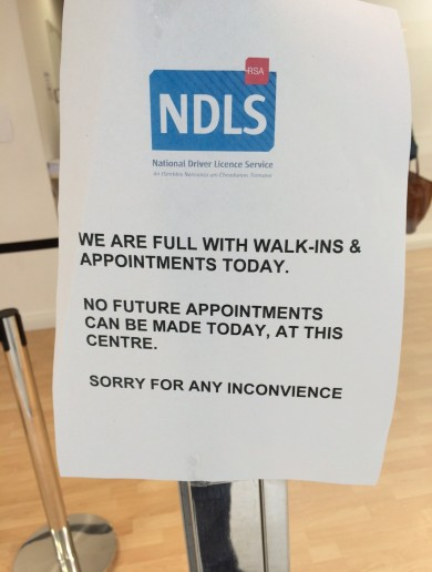 Driving licence centre closed – because it was too busy