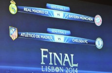 It's Real v Bayern, Atletico v Chelsea in the Champions League semi-finals
