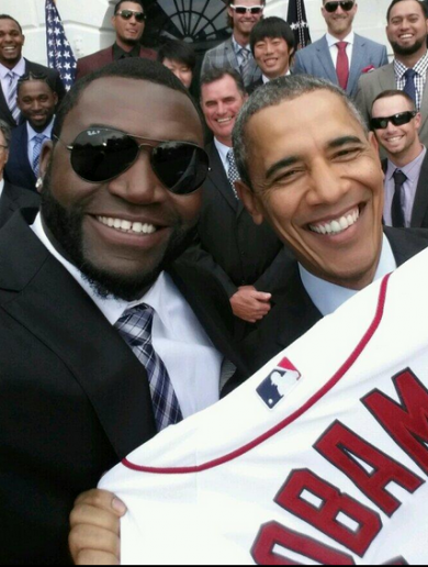 President Obama and 'Big Papi' had great craic at the Red Sox' White House reception