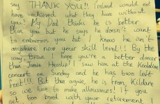 Brian O'Driscoll burned Jamie Heaslip with a 12-year-old girl's fan letter