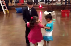 Little boy doles out some sweet justice to jealous girl on the dancefloor