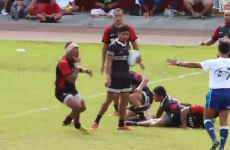 VIDEO: Samoan rugby player sparks roars of laughter after his dive is exposed