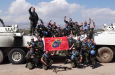 Snapshot: The Irish Defence Forces in Syria show their support for Munster