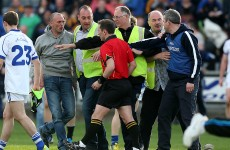 Ugly scenes as Garda escort ref
