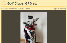 Ireland's worst golfer is selling his golf clubs
