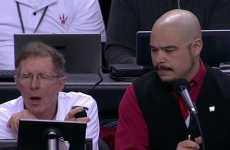 Back-up, human shot clock forced to yell out 'Horn' in NBA playoff match