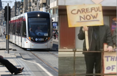 Edinburgh's new trams are officially using a safety message from Father Ted