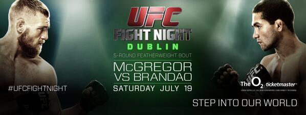 UFC Dublin wide poster