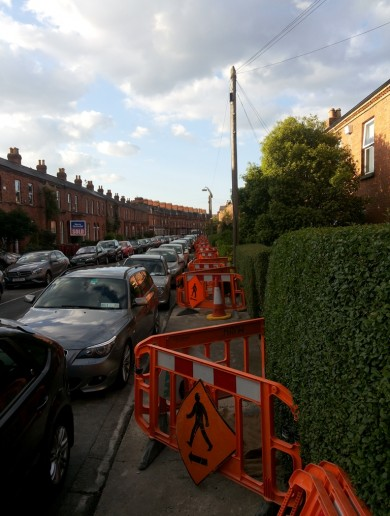 PICS: Water meter works leave footpath almost completely blocked