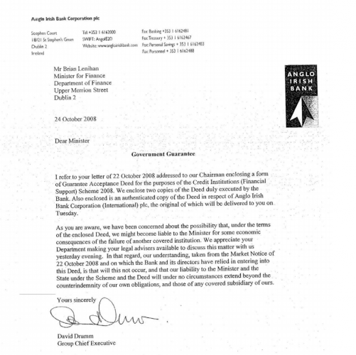bank guarantee letter anglo worried that the bank guarantee could make it liable 20551 | drumm letter 2 501x500